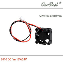 DIY Parts 3010 cooling fan DC 12V 0.1A for 3D printer accessories 30x30x10mm(30*30*10mm)with 2.54 Interface free shipping
