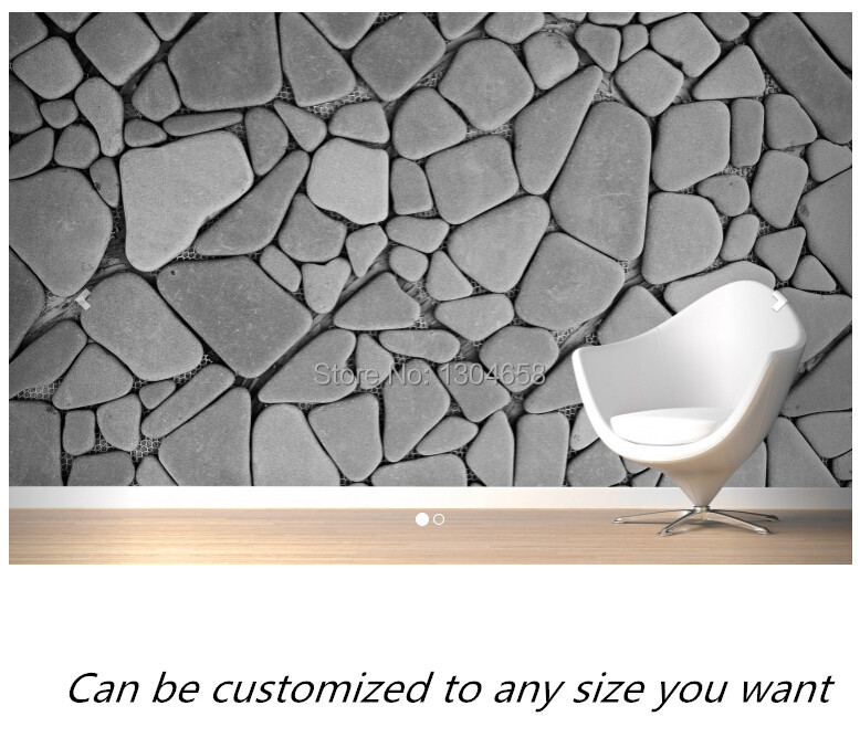 Free shipping custom- modern 3D wallpaper Grey Pebble Stone Wall Wallpaper Mural living room bedroom wallpaper backdrop free shipping custom murals worn coloured wood wall mural bedroom living room tv backdrop wallpaper