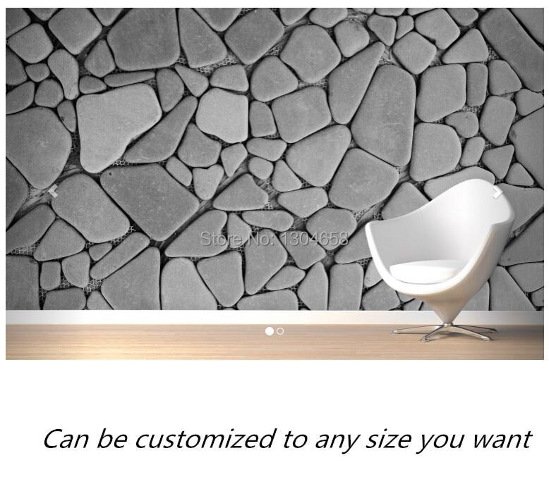 Fabulous Gratis verzending custom moderne 3d behang grijze kiezel muur  @YU06
