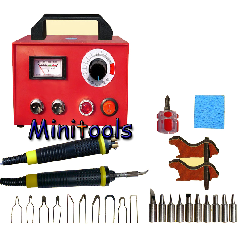 100w 220v Professional Pyrography toolkit Multifunction Pyrography machine+ Pyrography Tips +solder tips+cutter pen quicktime toolkit volume one