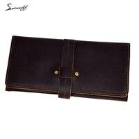 SMIRNOFF Vintage Genuine Leather Hasp Wallet With Cion Pocket Handmade Custom Name Crazy Horse Leather Women