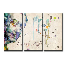 3 Pieces/set Abstract poster series Canvas Painting living room Room Decoration Print Canvas Pictures Framed/Abstract (65)(China)