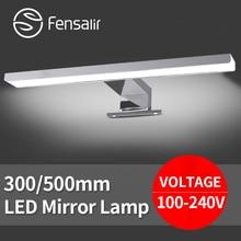 AC100-240V 30 40 50 см Серебряные Зеркало LED Лампы для Кабинета ванная комната Суета Свет Алюминиевый Настенный Освещения для макияжа зеркало