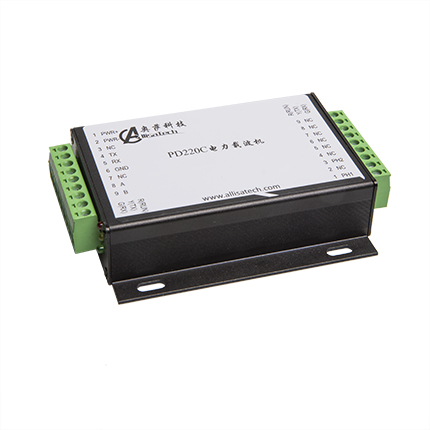 Power Line Carrier Communication Module AC / DC General RS232/RS485 Interface Industrial Aluminum Shell