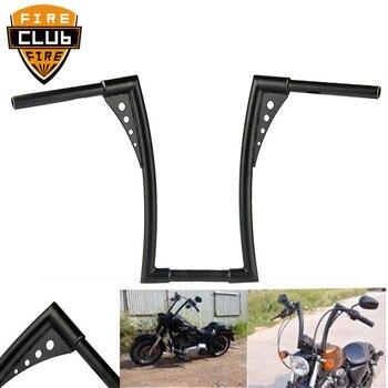 "Black 16"" Rise Ape Hangers bike Handlebar 1-1/4"" Fat Bars 16 Rise Handlebars Fit for Harley Durable Quality"