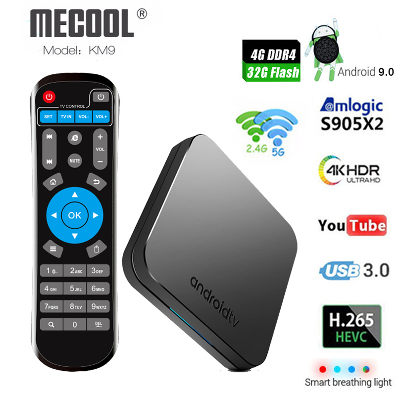 Mecool KM9 Android 9 0 Smart TV Box Amlogic S905X2 4GB DDR4 RAM 32GB ROM 5G