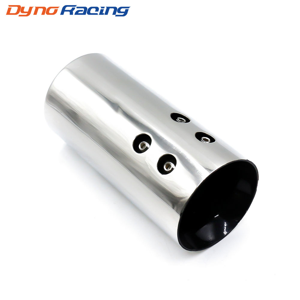 Universal Chrome Stainless Steel Auto Rear Round Exhaust Pipe Tail Muffler Tip