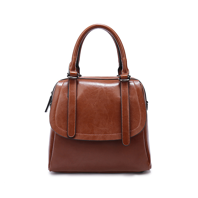 New Classical 100% Genuine eather Women Oil Wax Cowhide Handbags Fashion Ladies Portable Messenger Bags & Shoulder Bags F277 2017 autumn and winter new women genuine leather handbags female bags oil wax cowhide handbags fashion shoulder messenger bags