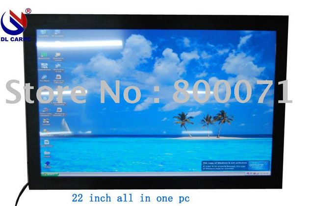 22'' IR SAW mutil-touch all in one pc ,Intel i3 CPU,Nvidia GT218 dedicated graphic card,HD 1080P