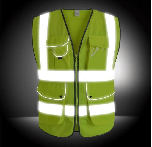 New 360 reflective Traffic vest construction reflective safety vests riding reflective clothing many pockets