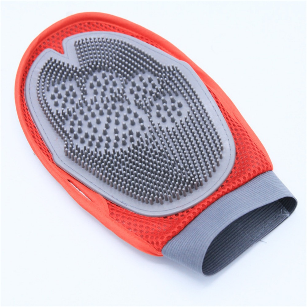 Soft Mitt Pet Grooming Glove Brush for Long & Short Hair Pets to Eliminate Shedding Useful for Combing and Cleaning of Pets 10