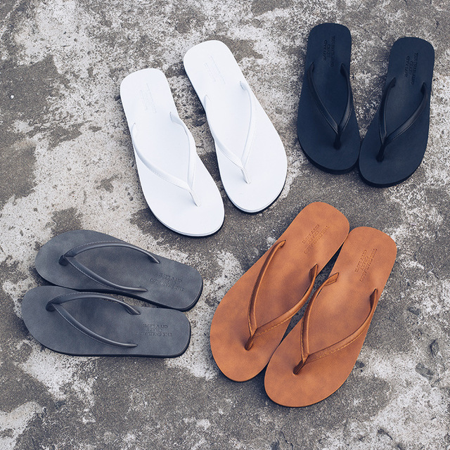 Casual Solid Color Unisex Beach Slippers 2