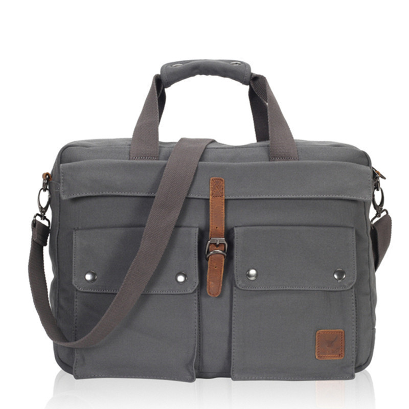 vintage fashion unisex canvas messenger bag book laptop school shoulder bags ladies women crossbody bags handbag men travel bag 2018 Fashion Men Messenger Bags Business Handbag Shoulder Bag Vintage Canvas Travel Briefcase Laptop Crossbody Bag Men's Postman