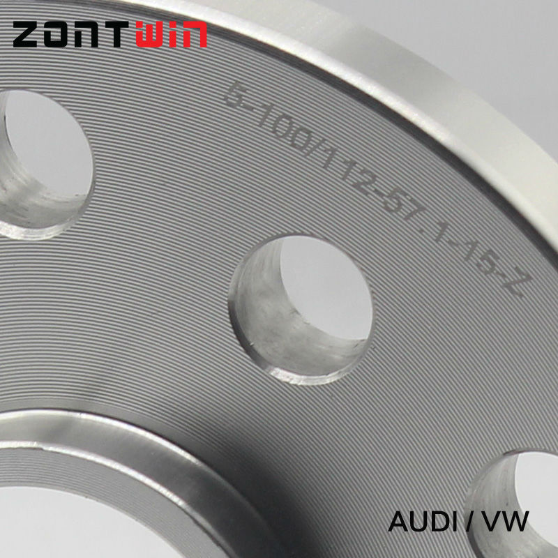 2 pièces 12mm Entretoises De Roue costume pour Voiture Audi Kit 5x100/5x112 CB: 57.1 A1/A2/A3/A4 (B5, B6, B7)/A6 (C4, c5, C6)/A8 (4E)/TT/ALLROAD/Quattro - 2