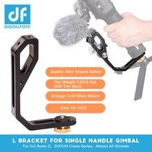 Digitalfoto L Beugel Met 3 Hot Shoe Mount Handvat Magic Arm Voor Gimbal Monitor Mic Voor Dji Ronin RS2/RSC2/Sc/S Zhiyun Weebill 2