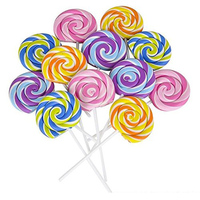 Lollipop Ластики-12 упак.-вечерние сувениры, Гуди мешки, вечерние принадлежности, призы, школьные принадлежности