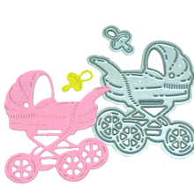 Baby Carriage Trolley Metal Die Cutting Dies Stencil DIY Scrapbooking Embossing Folder Album Cards Paper Decor Metal Craft