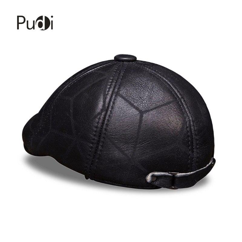 HL113 prava kožna kapa bejzbol kapa zima topla ruska starica beretka - Pribor za odjeću - Foto 4