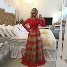 Long Sleeves Lace Appliques Hijab Evening Dresses 2016 For Women Evening Gowns Robe De Soiree