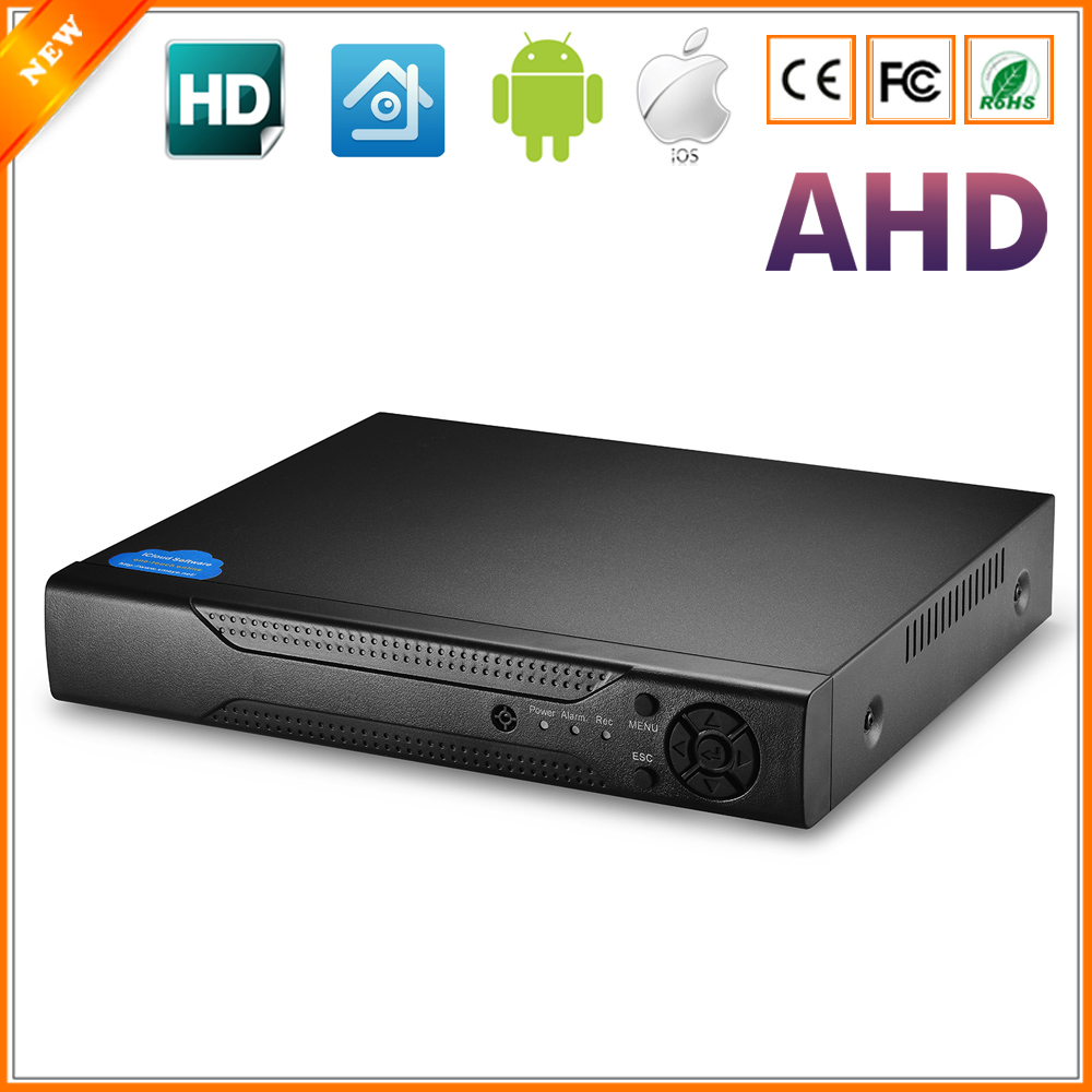 AHDM DVR 4Channel 8Channel AHDNH CCTV AHD DVR Hybrid DVR 1080P NVR 4in1 Video Recorder For