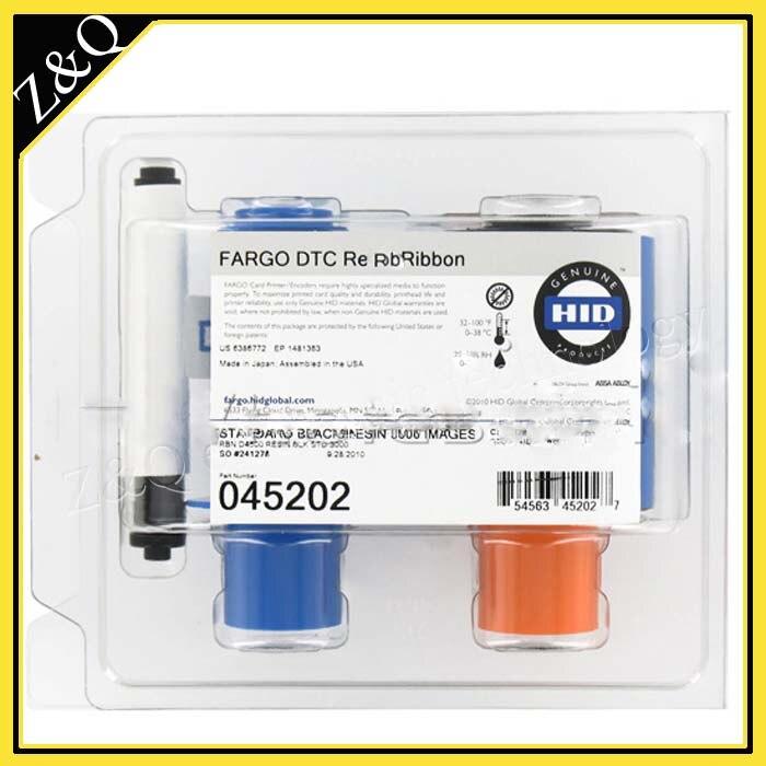 original  Fargo 45202 Black Monochrome card printer Ribbon - K - for the fargo DTC4500,DTC4500e  printersoriginal  Fargo 45202 Black Monochrome card printer Ribbon - K - for the fargo DTC4500,DTC4500e  printers