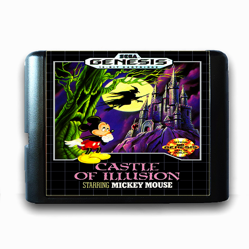 Castle of illusion Starring Micky Muse 16 bit Sega MD Game Card for Mega Drive for Genesis