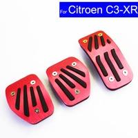 Car Aluminium Alloy Petrol Clutch Fuel Brake Pad Foot Pedals Rest Plate for Citroen C3 XR C4L C Quatre C5 Pedals Auto