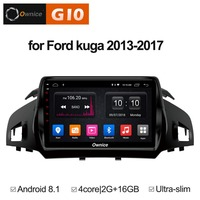 Android 8.1 Quad 4 Core 2GB RAM+16GB ROM 9 inch Car DVD Player for Ford Kuga 2013 2017 GPS Navi Radio Stereo 4G WIFI TPMS DAB