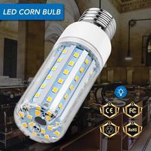 E27 Led Lamp E26 220V Corn Bulb 2835 Lampara Led Chandelier Candle Bulb 5W 10W 15W 20W High Power Aluminium Light Bulb 85-265V цена в Москве и Питере