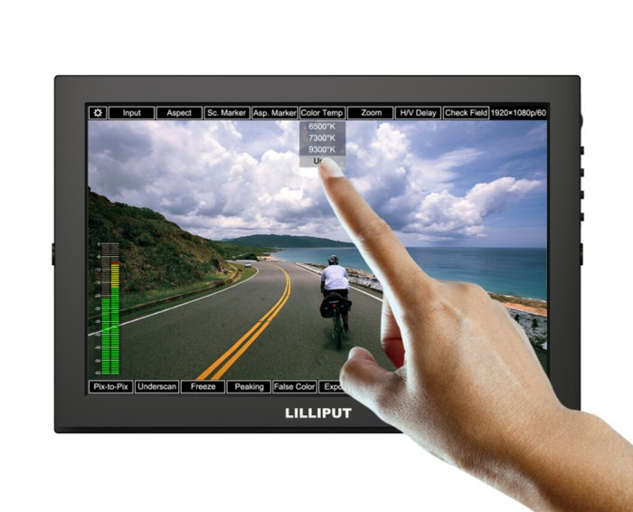 Lilliput TM-1018/S 10.1 LED IPS Full  HDMI Field Touch Screen Camera Monitor With 3G-SDI , HDMI Input&Output,VGA Input lilliput 663 s2 7 inch led field monitor with 3g sdi hdmi ypbpr via bnc composite video and sun hood optimised for full hd