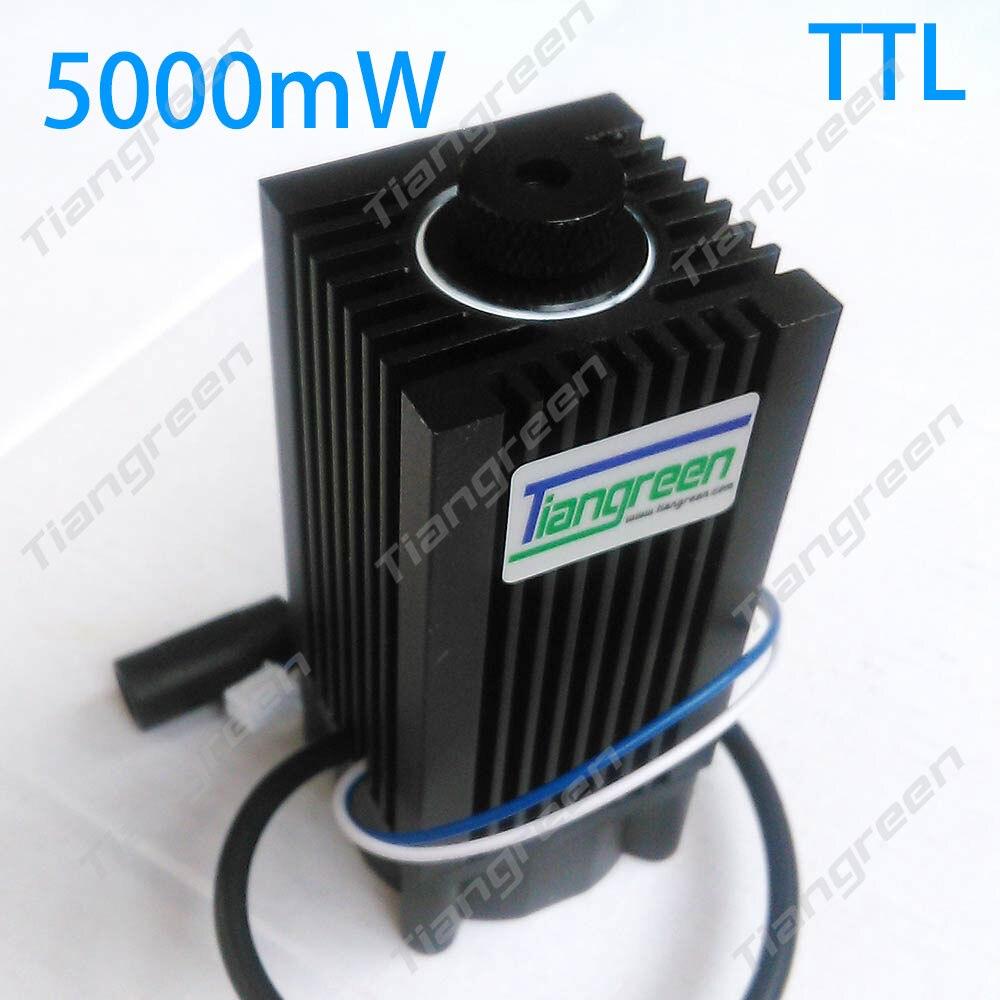 Tgleiser 5 w 450nm bleu module laser découpé au laser TTL module 5000 mw laser tube pièces de machine de Gravure