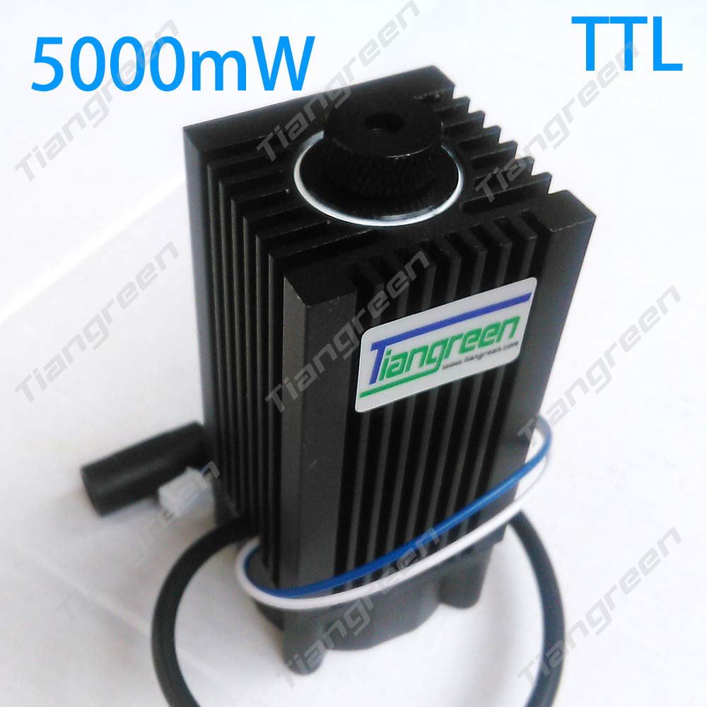 tgleiser 5w 450nm blue laser module laser cut TTL module 5000mW laser tube Engraving machine parts 5w laser module ttl mini laser engraving machine 445nm 450nm blue laser head with adapter free goggles