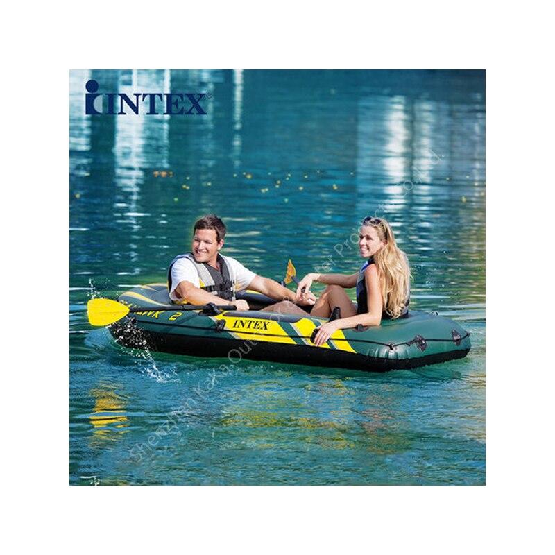 236*114*41 cm 2 personne Intex Seahawk bateau pneumatique bateau de pêche pvc bateau de pêche paddle pompe à main moteur raquette canot radeau A06005