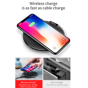 Image 5 - Baseus Qi 무선 충전기 for iPhone 11 XS MAX 8 plus for Samsung S10 S9 Plus Note 9 8 무선 충전 USB 전화 충전기 패드