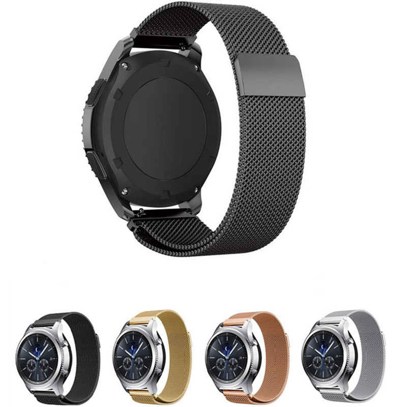Kopeck Milanese Loop Magnetic Watch Strap For Samsung Gear S3 Classic Frontier Mesh Stainless Steel Bracelet Strap Watch Band 2017 new stainless steel bracelet strap watch band milanese magnetic with connector adapter for samsung gear s2 watch band