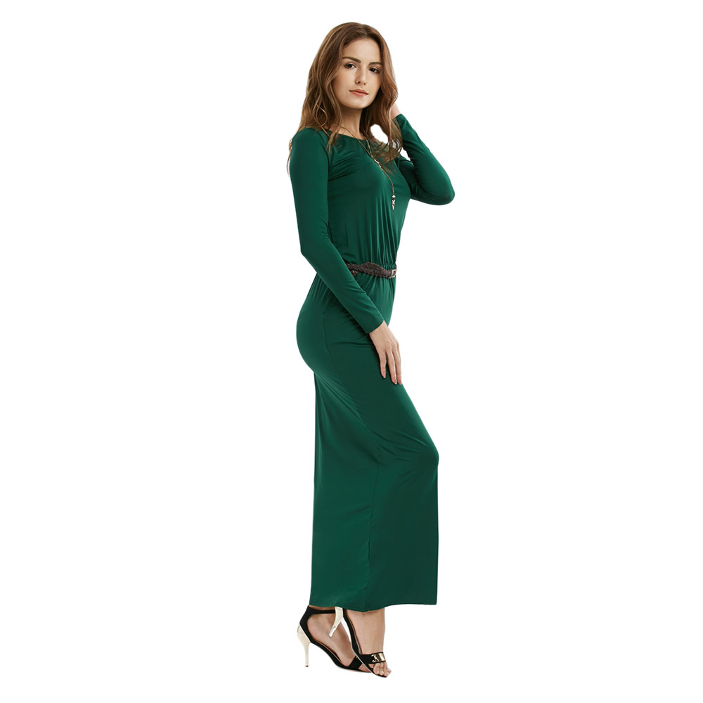 VESTLINDA Vintage Vestidos Longo Jurken Women Maxi Dress Full Sleeve Casual Dress Autumn A Line Solid Ropa Mujer Long Dress 9