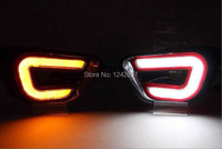 led drl daytime running light for Jeep compass guiding light design with yellow turn signals, carbon fiber surface