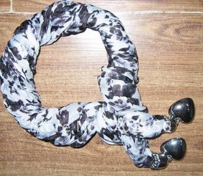 Не бренд морщин ювелирные изделия шарф ювелирные изделия шеи шарфы 14 шт./лот#1586