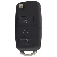 WhatsKey 3 Button Folding Flip Remote Car Key Shell Case For Volkswagen VW Passat B5 B6 Golf Polo