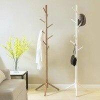 Modern Wooden Coat Rack Clothes Stand Coat Rack Display Stands Hanger Hat Jacket Bag Clothes Shelf Living Room Bedroom