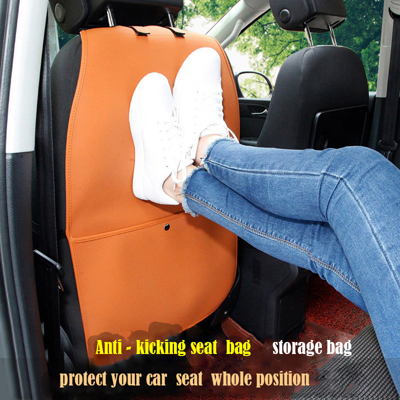 Auto Seat Back Protector Cover Car Interior Children Kick Mat Storage Bag car seat aint kicking pad Accessories Car Styling