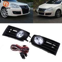 POSSBAY Fog Lights Car Halogen Lamp Daytime Running Light Lamp Bulbs Auto Replacement for 2004 2010 VW Jetta/Bora/ Golf Mk5
