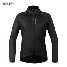 WOSAWE Men Bicycle Cycling Jackets Fleece Lining PU Leather Windproof Windproof Jersey MTB Road Bike Wind Coat Clothing santic 2017 green light mtb cycling jackets raincoat windproof men waterproof outdoor mtb cycling jersey bike racing jackets