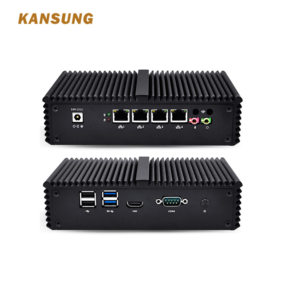 Mini PC Core I5 With 4 Gigabit LAN Support AES-NI Windows Linux Router Firewall Industrial Tiny Little Desktop Computer