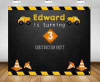 custom construction birthday dump truck photo backdrop High quality Computer print party background