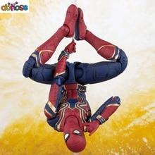 Spiderman Cartoon Avengers: Infinity War Action Figure S.H. Figuarts Bright gold spider mark  Iron Spider Model Kids Toy