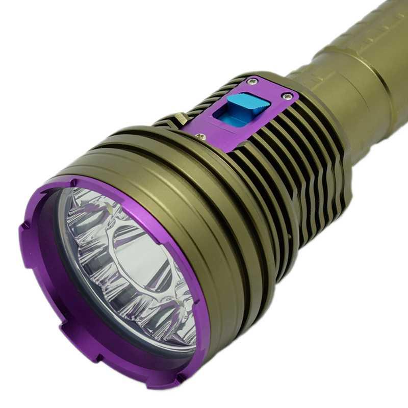 Lampe de poche LED de plongée 20000 Lumens chasse sous-marine 100 m lanterne pour chasse sous-marine tactique militaire haute puissance L2 lampe de poche