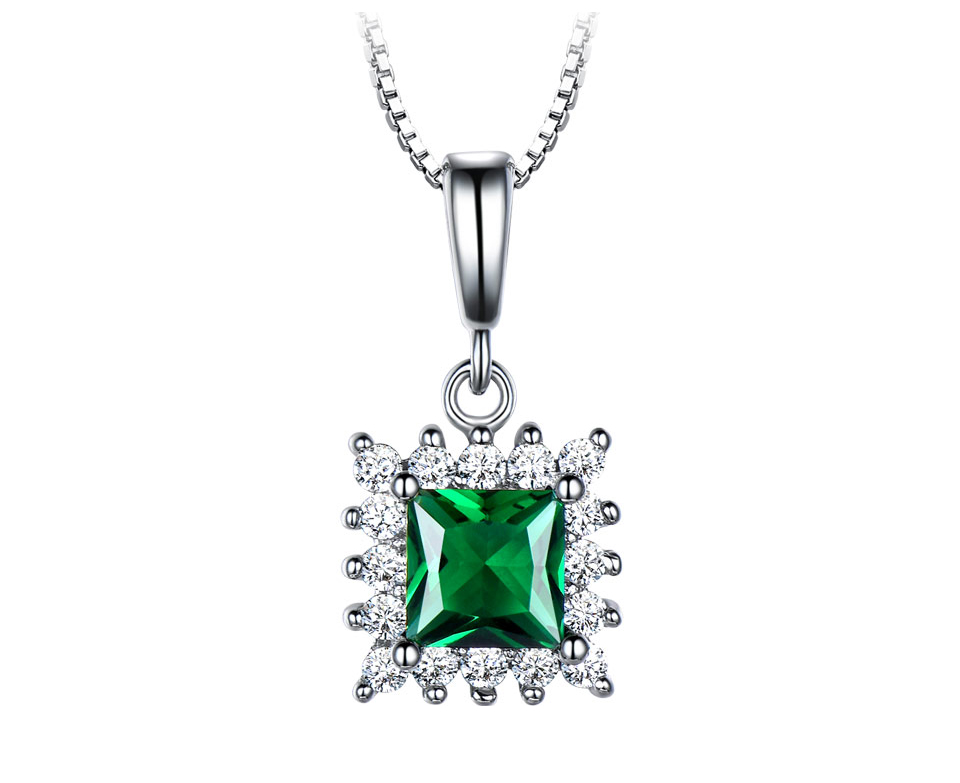 UMCHO Emerald 925 sterling silver jewelry set for women S019E-1 (2)