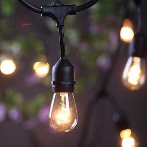 Image 2 - IP65 屋外 led ストリングライト 10 メートルゲージ黒のケーブル 10 4 ワットエジソン電球最適な装飾パティオガーデンパーティークリスマス