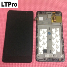 LTPro 100% Working Top Quality LCD Display   Touch Screen Digitizer Assembly with frame For Lenovo S860 Repair Replacement Part